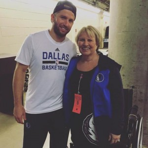 Vicki Crumpton Metcalfe and Dallas Mavericks J J Barea